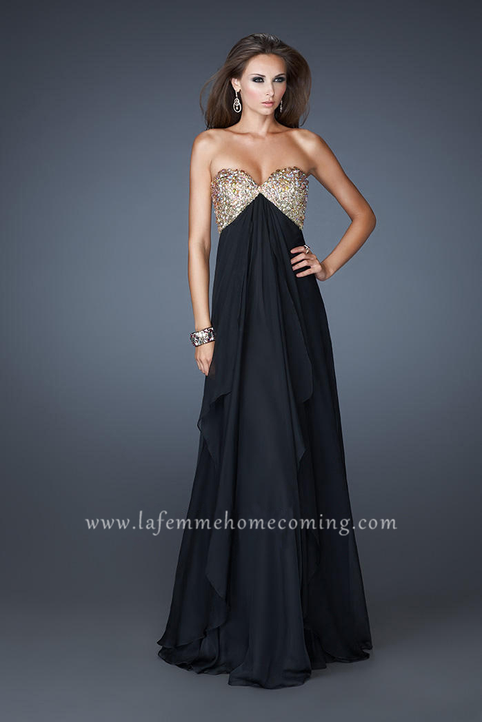 Black Strapless Prom Dress - Ocodea.com