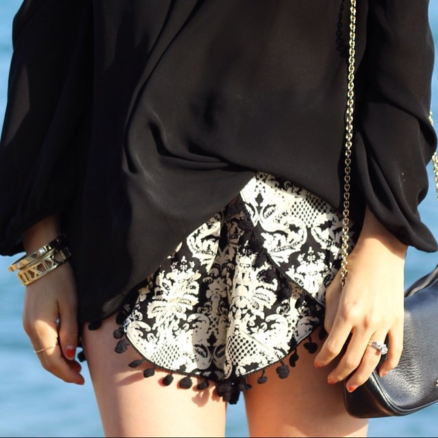 PRINTED POMPOM SHORTS! GET IT AT WWW.SHOPPUBLIK.COM