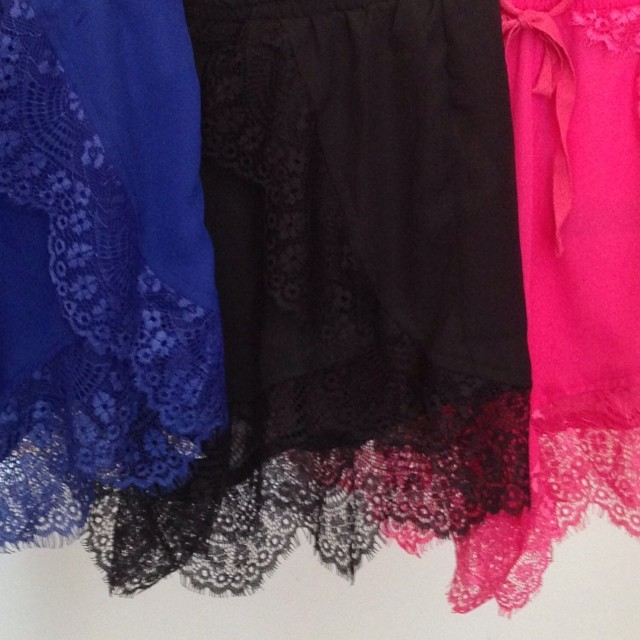 LACE SHORTS IN 4 COLORS! GET IT AT WWW.SHOPPUBLIK.COM