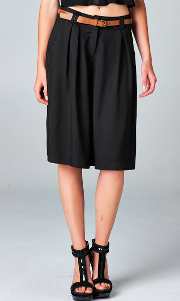 BLACK WIDE-LEG CULOTTES PANT | PUBLIK | Women's Clothing & Accessories