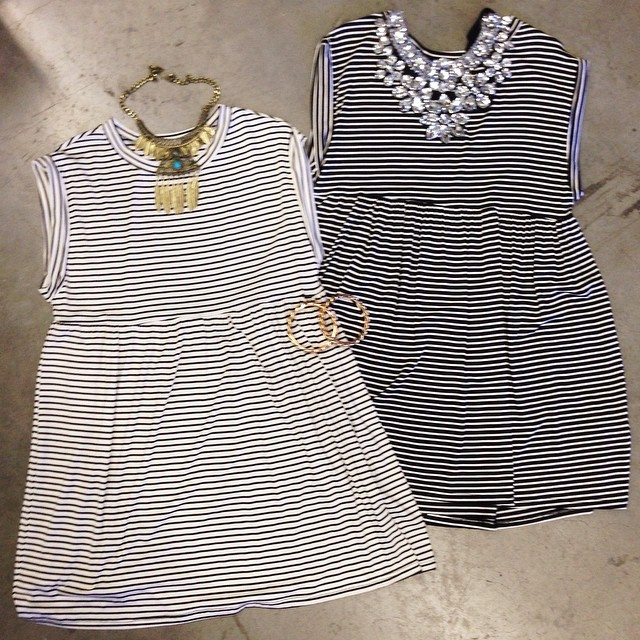 STRIPED BABYDOLL TANK DRESSES IN 2 COLORS AT WWW.SHOPPUBLIK.COM