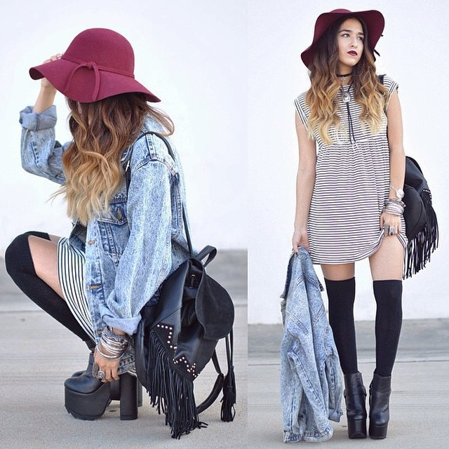 STRIPED BABYDOLL DRESS! AVAILABLE NOW AT WWW.SHOPPUBLIK.COM