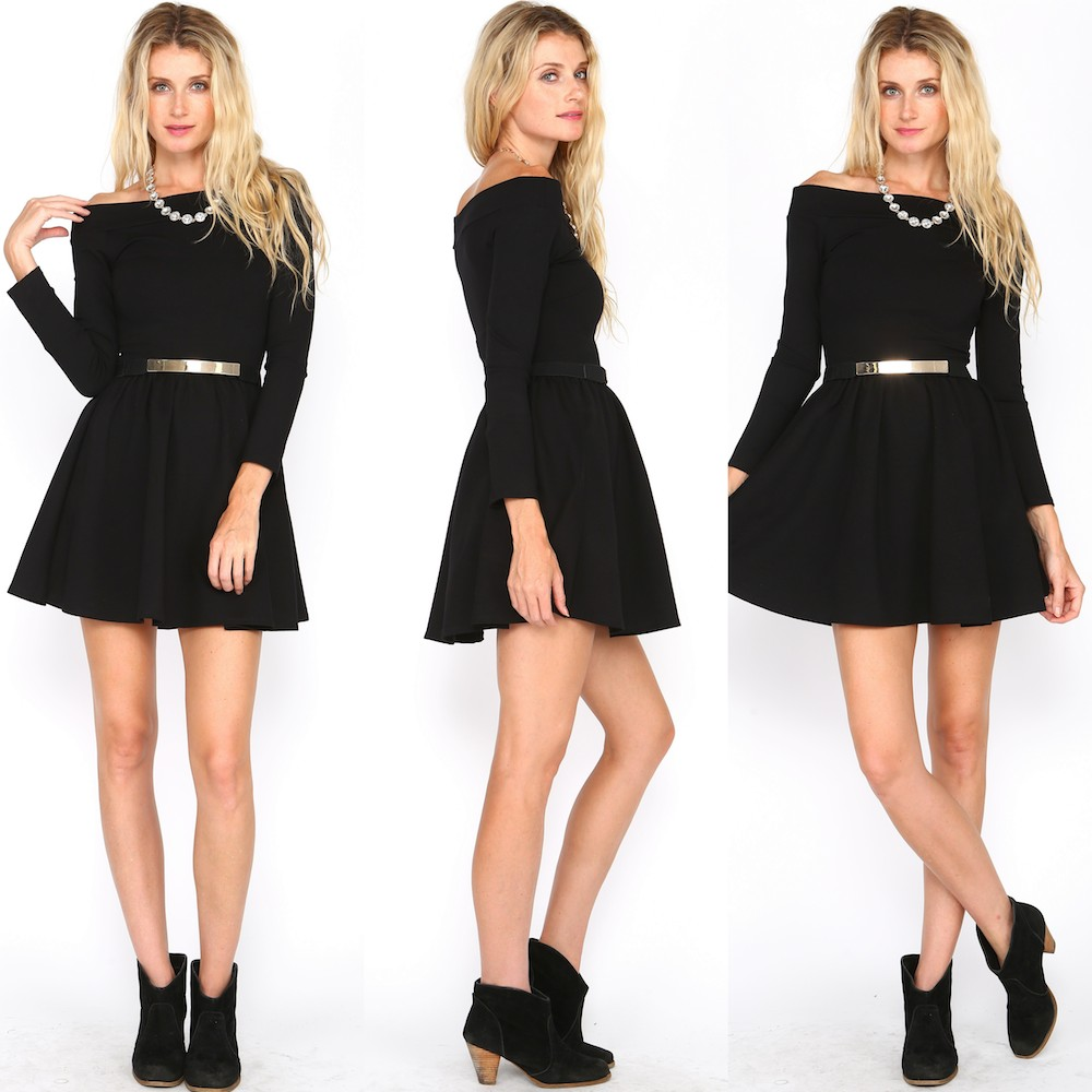 OFF THE SHOULDER SKATER DRESS! AT WWW.SHOPPUBLIK.COM