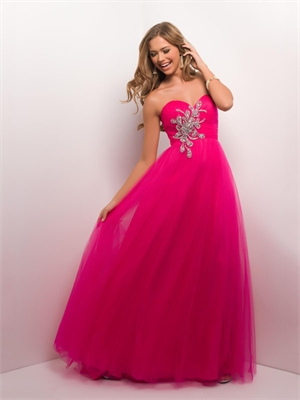 Elegant Sexy Sweetheart With Appliques Low Back Full Chiffon Prom Dress PD2