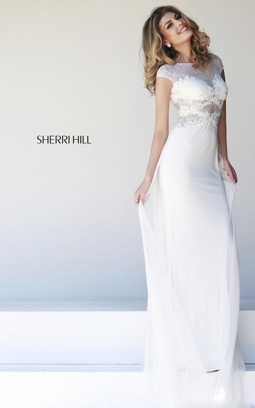 2015 white prom dress long by sherri hill 21365 stylecaster