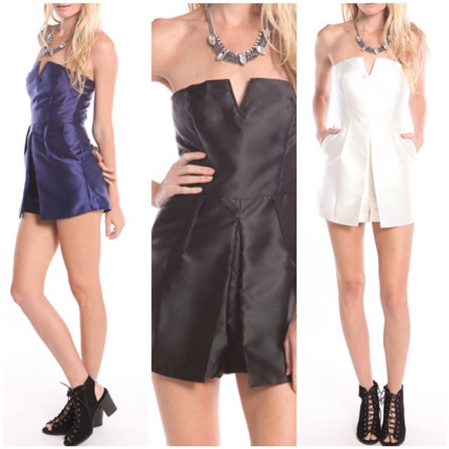 SATIN PLEATED ROMPERS! WWW.SHOPPUBLIK.COM