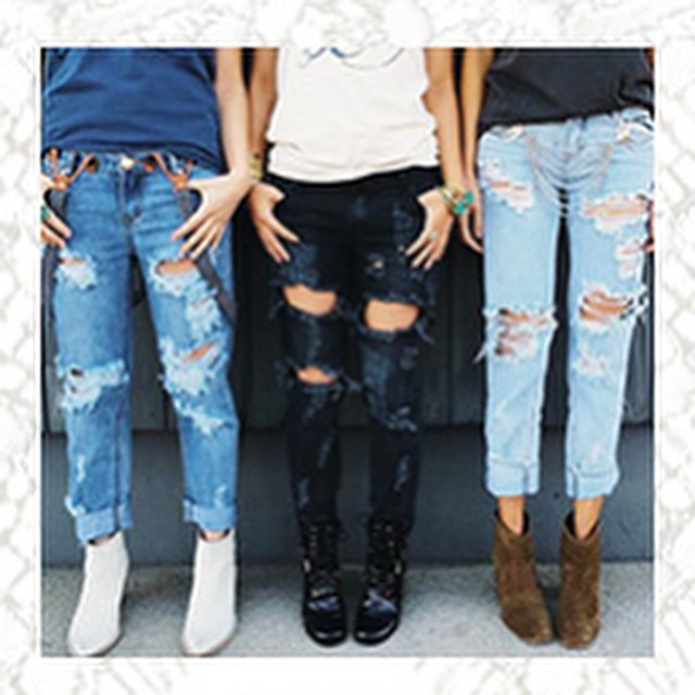 DESTROYED BOYFRIEND JEANS WWW.SHOPPUBLIK.COM