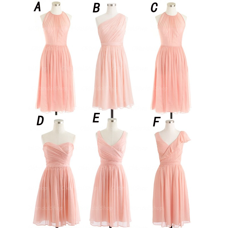 short bridesmaid dresses, mismatched bridesmaid ...